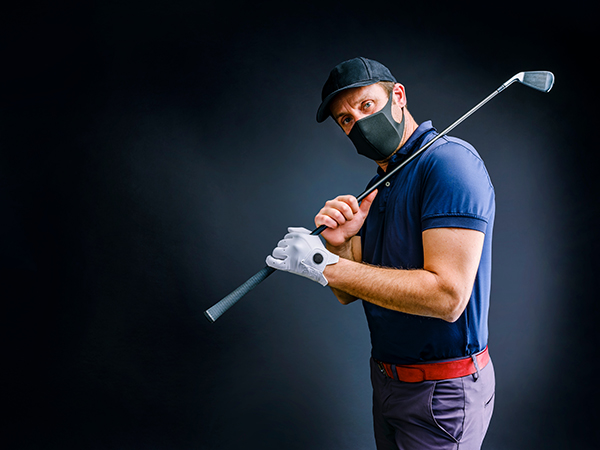 Golfer with Mask